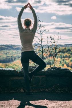 yoga over cliff